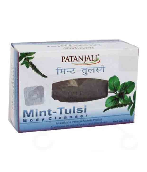 Mint Tulsi Body Cleanser Soap Patanjali (Мыло Мята Тулси Патанджали) 75гр